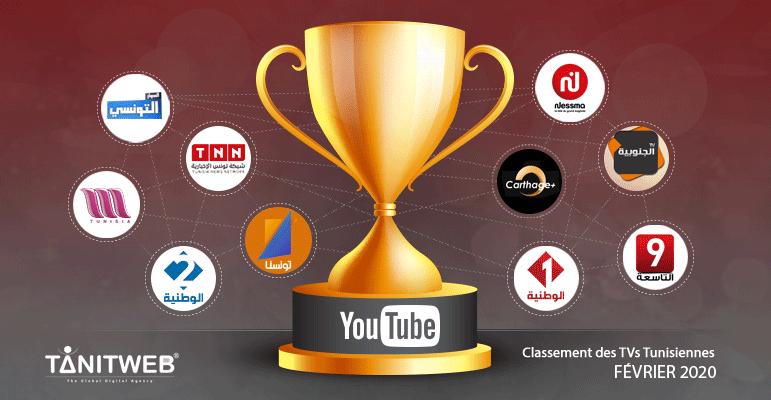 top TV sur youtube fevrier 2020