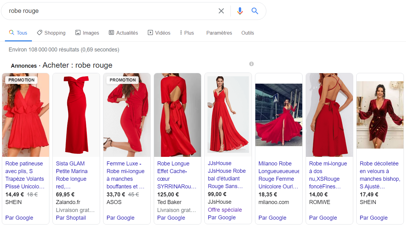 Google Shopping-SEA