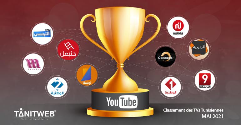 Classement des Chaines TV tunisiennes sur YouTube – Mai 2021