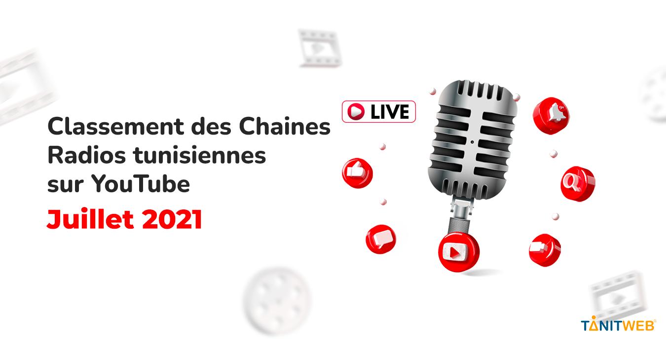 Classement des Chaines Radios tunisiennes sur YouTube – Juillet 2021