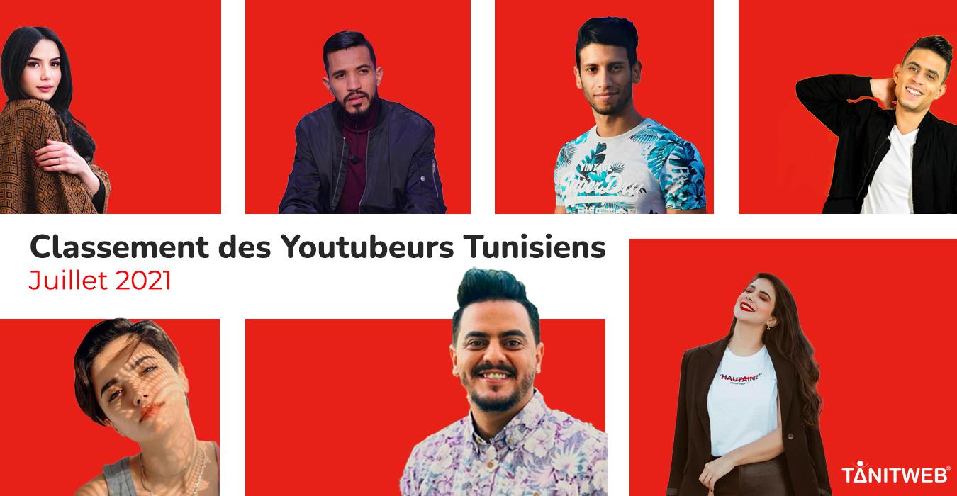 Classement des Youtubeurs Tunisiens – Juillet 2021