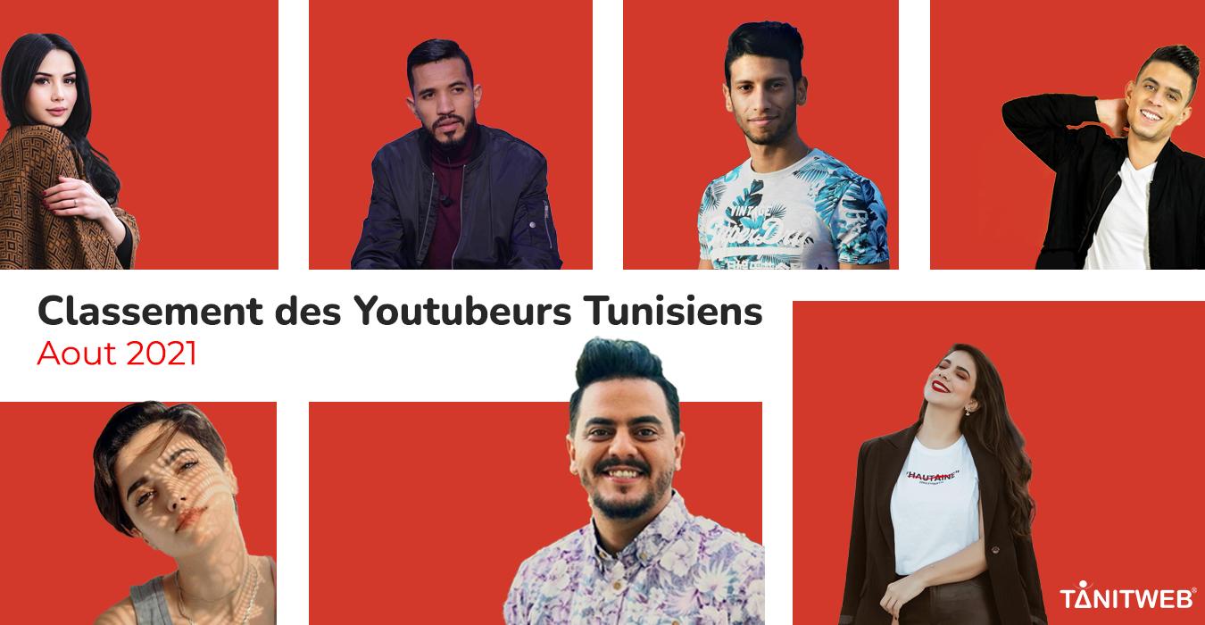 Classement des Youtubeurs Tunisiens – Août 2021